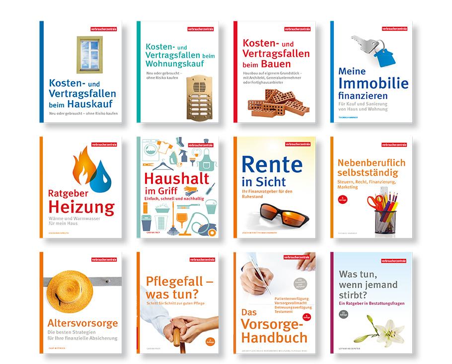Reihengestaltung Cover Verbraucherzentrale NRW